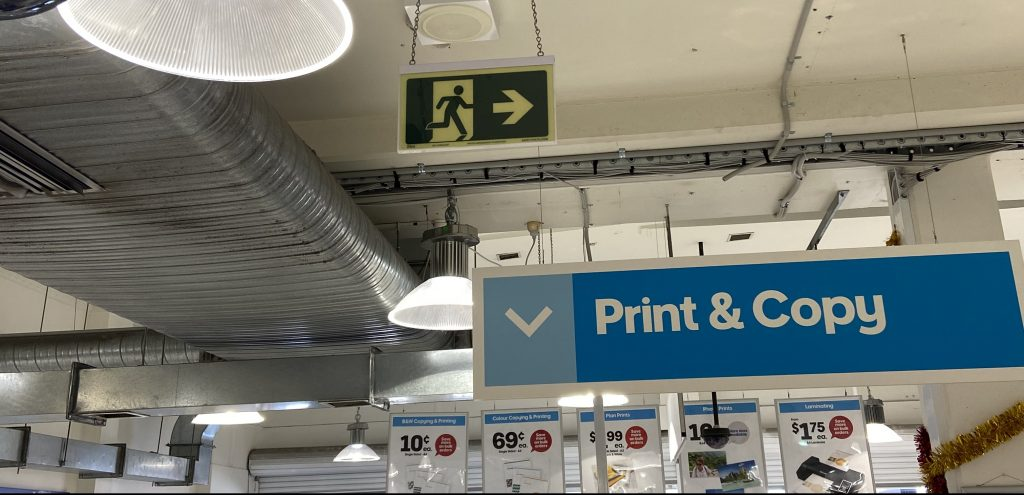 Officeworks Safety Path Exit Sign