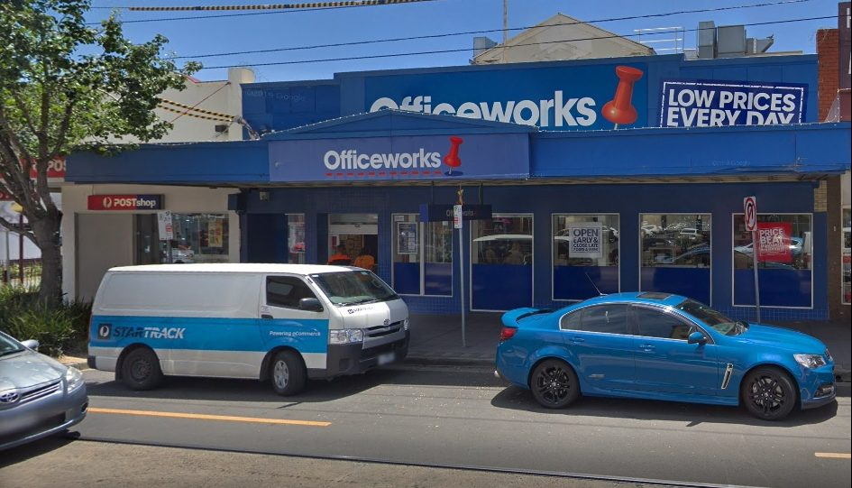 Officeworks with Safety Path Exit Signs