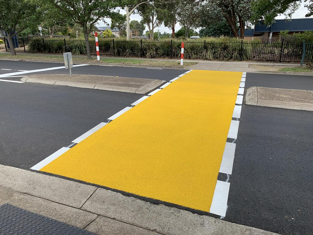 Yellow OmniGrip CST for George Street Pedestrian Crossing