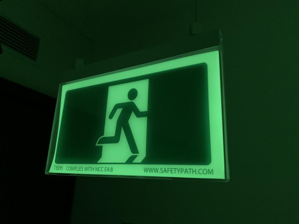 Safety Path Exit Sign