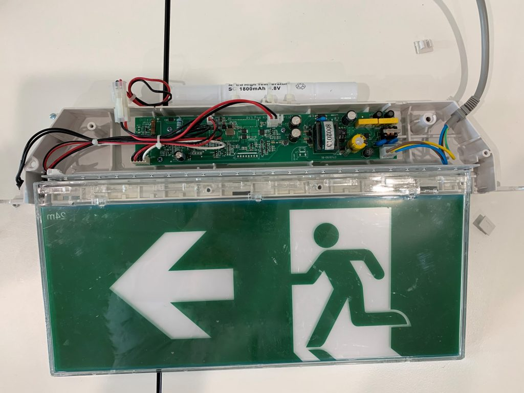 Electric Exit Sign Interior