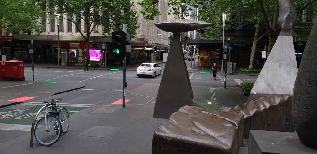 Vivacity LED Safety Tactiles Melbourne Swanston Street and Little Collins St