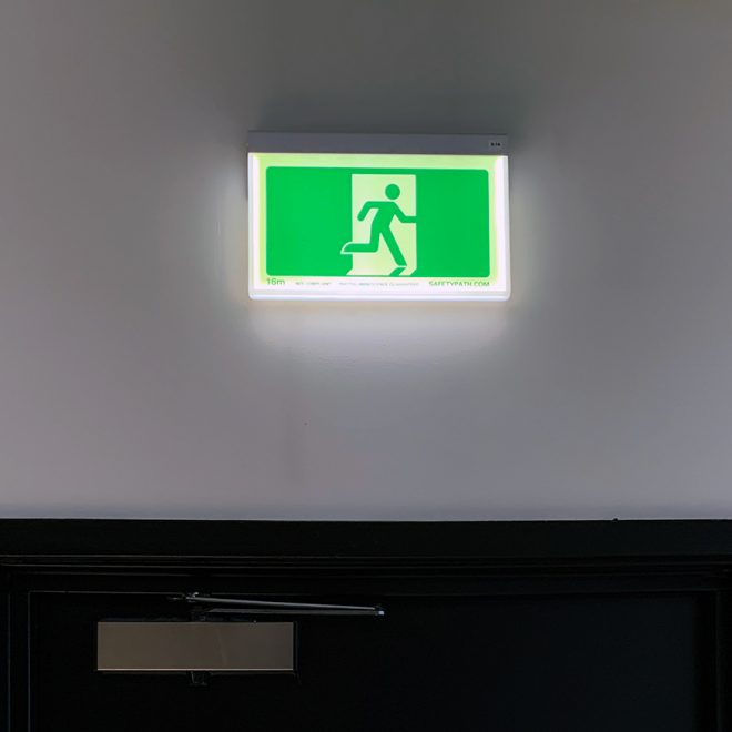 Photoluminescent Led Exit Sign By Safety Path Australia
