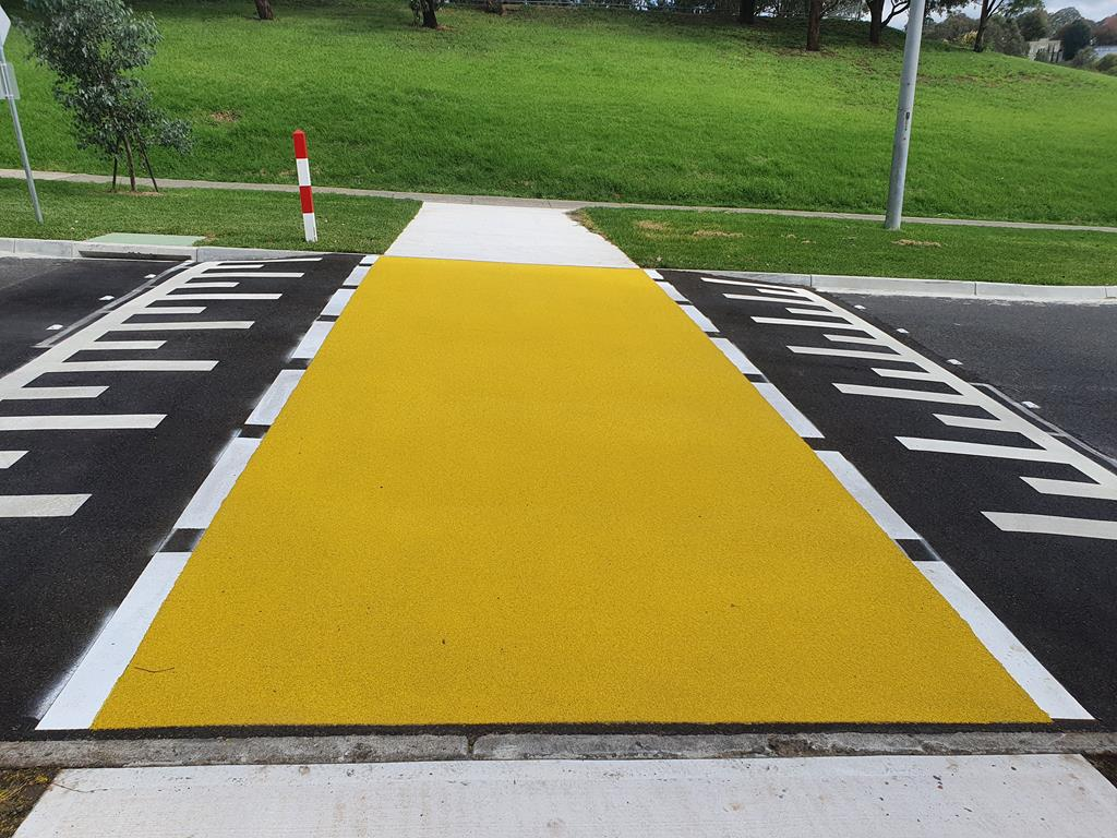 Yellow OmniGrip CST School Crossing, Serpells Avenue, Manningham City Council