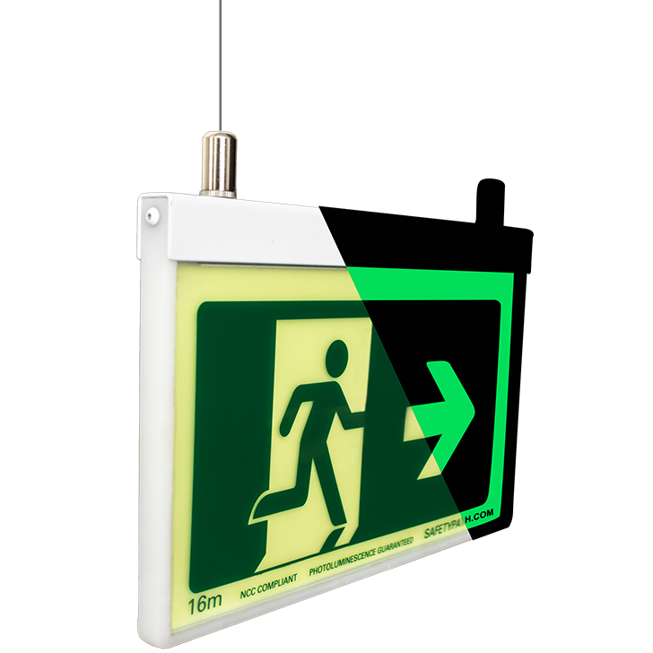 Safety Path Environmental Exit Sign