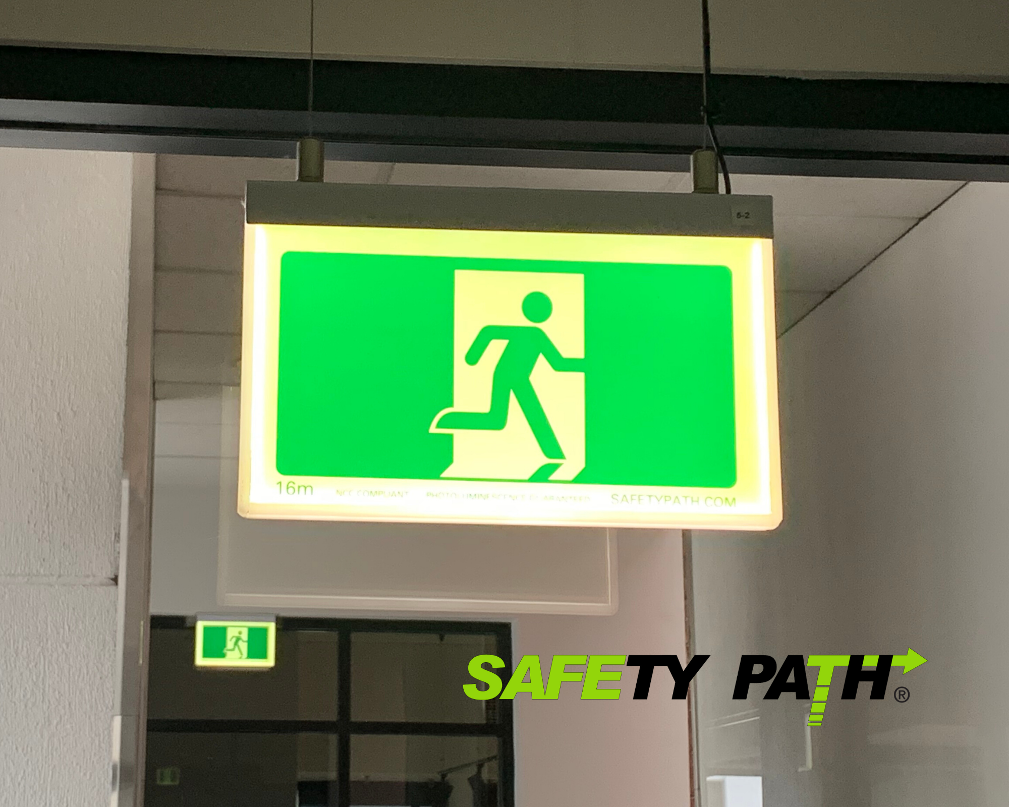 Safety Path Photoluminescent LED Exit Sign