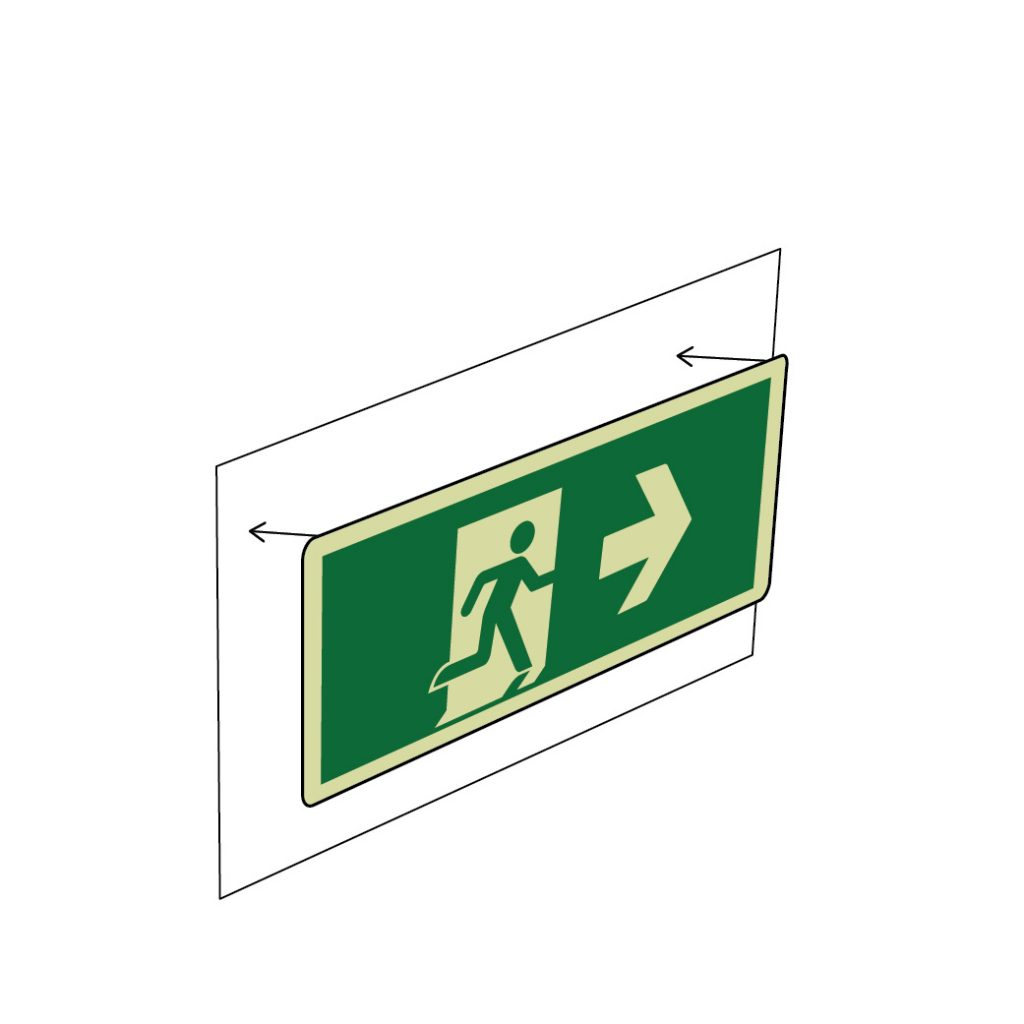 WEB Industrial Exit Sign Adhesive stick-on