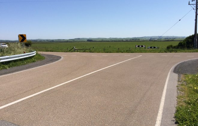 High Friction Surface Treatment at Rural Intersection