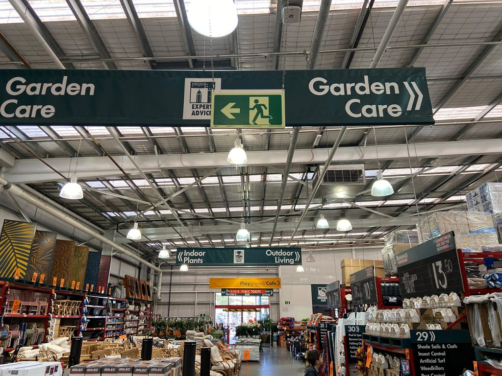 Bunnings Safety Path Exit Sign