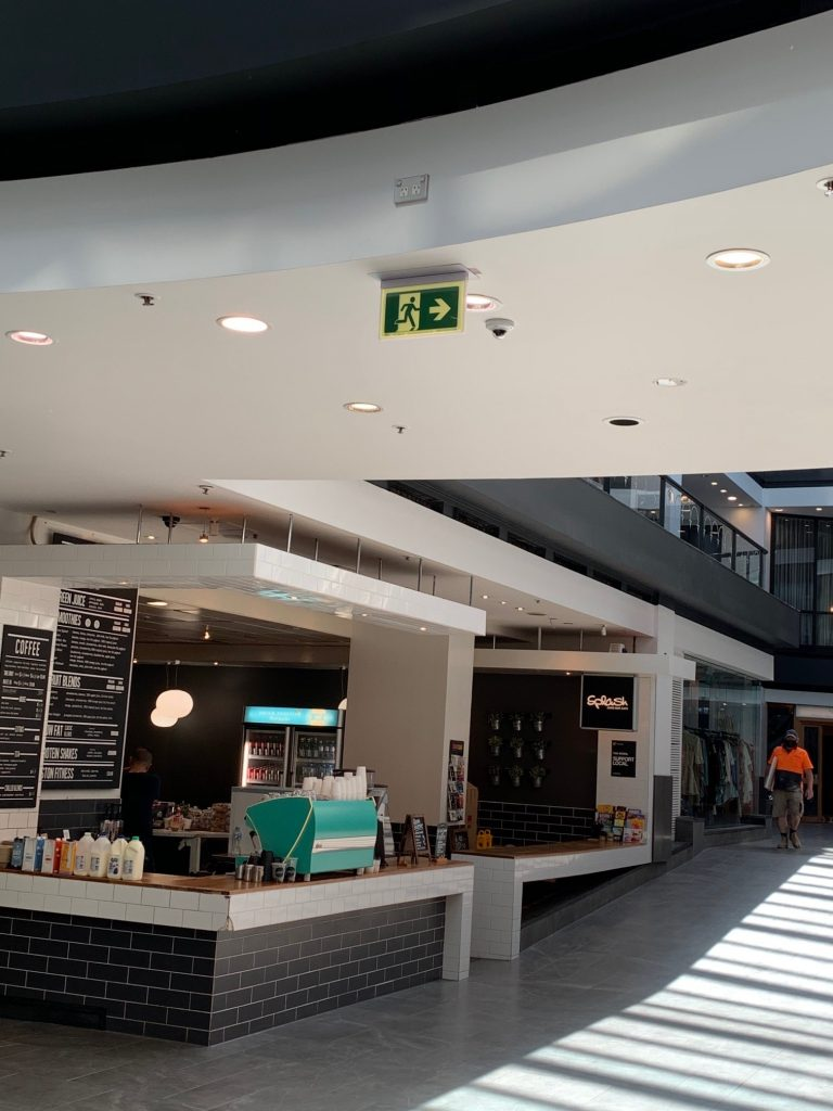Safety Path LED Exit Sign in Como Centre Retail Precinct