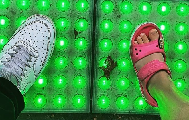 Adults and Children benefit from Vivacity LED Safety Tactiles